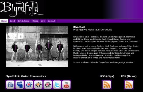 Blyndfold Homepage
