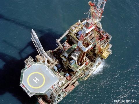 Ölplattform BP-Andrew - managed by KCADEUTAG. Bild: (C) BP p.l.c.