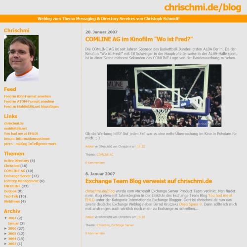 Neues Layout mit hierarchischem Archiv und Themen