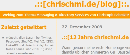 Twitter-Integration mit chrischmi.de