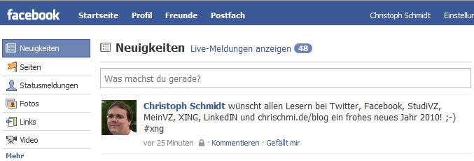 Twitter-Integration mit Facebook